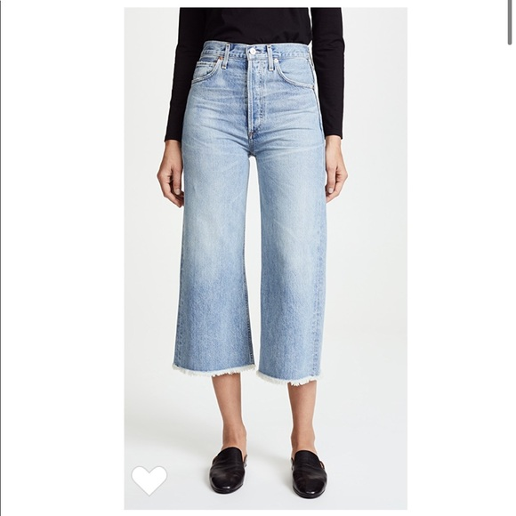 Citizens Of Humanity Denim - Emma high rise wide leg crop jeans